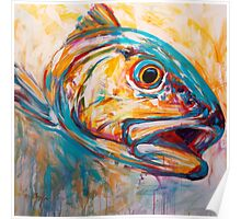 Red Drum Fish art - Expressionist Redfish Poster