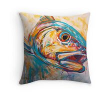 Red Drum Fish art - Expressionist Redfish Throw Pillow