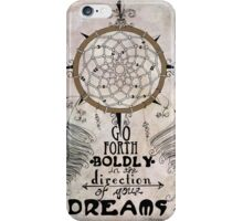 Go Forth Boldly iPhone Case/Skin