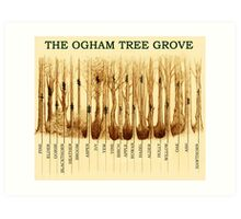 Ogham Tree Grove Art Print