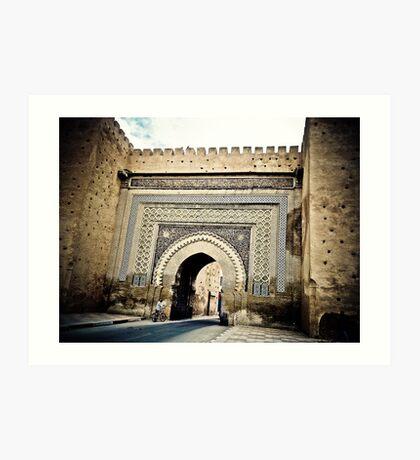 Meknes Medina gates 1 Art Print