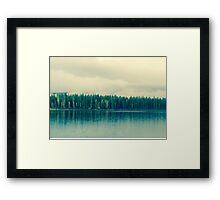 sleepy morning lake Framed Print