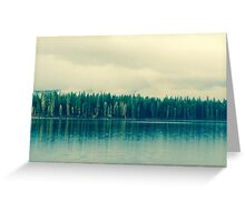sleepy morning lake Greeting Card