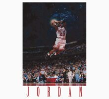 Michael Jordan Space Text T-Shirt