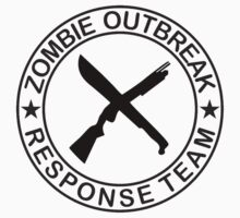 ZOMBIE OUTBREAk RESPONSE TEAM gun & Machete by Tony  Bazidlo