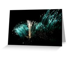Burst of blue Greeting Card
