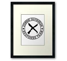 ZOMBIE OUTBREAk RESPONSE TEAM gun & Machete Framed Print