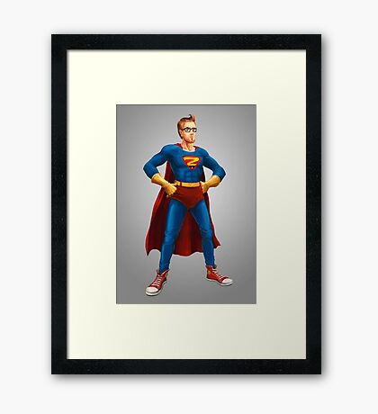 Geek Hero Framed Print