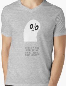 Undertale - Napstablook Mens V-Neck T-Shirt