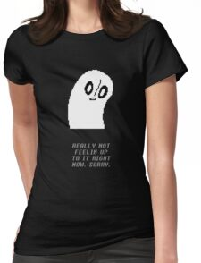 Undertale - Napstablook Womens Fitted T-Shirt
