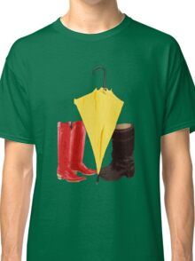 The boots and the umbrella Classic T-Shirt