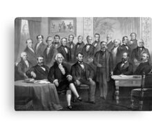 Our Presidents 1789 - 1881 Canvas Print