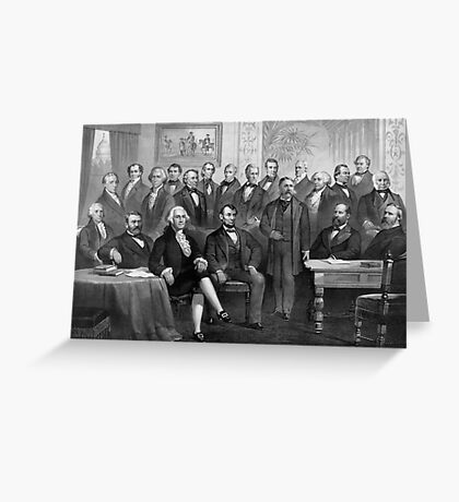 Our Presidents 1789 - 1881 Greeting Card