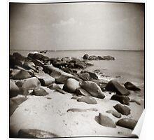 { beach boulders } Poster