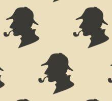 Sherlock Holmes Silhouette Pattern Sticker