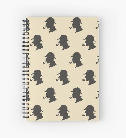 Sherlock Holmes Silhouette Pattern Spiral Notebook