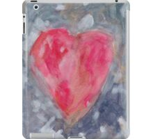 Heart on blue background iPad Case/Skin