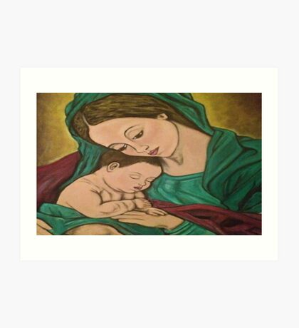 mary and baby jesus Art Print
