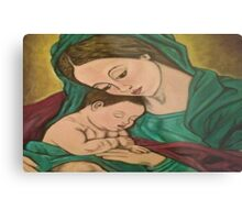 mary and baby jesus Metal Print