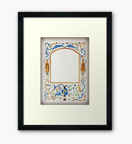Empty Border - The Forgotten Shield Framed Print