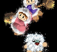 Abstract Ice Climber Duo by scribbleworx