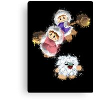 Abstract Ice Climber Duo Canvas Print