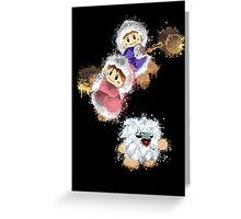 Abstract Ice Climber Duo Greeting Card