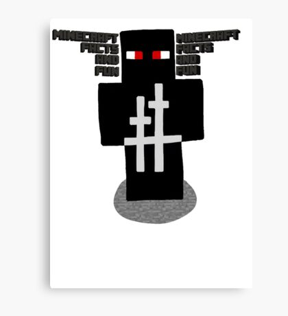 Ninja Design | Minecraft Facts And Fun Canvas Print