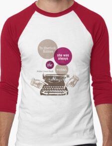 To Sherlock Holmes… Men's Baseball ¾ T-Shirt