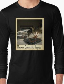 Mmmm Cassette Tapes Long Sleeve T-Shirt