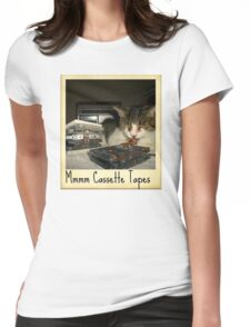 Mmmm Cassette Tapes Womens Fitted T-Shirt