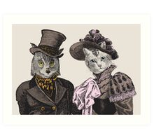 The Owl & the Pussycat Art Print