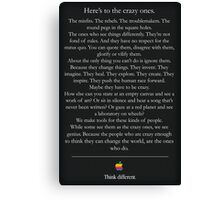 Think Different Canvas Print