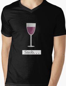 Wine Snob Mens V-Neck T-Shirt