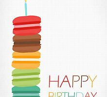 Macaron Stack Cake - Birthday Card by RumourHasIt