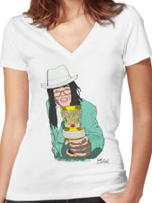 Lil' John Mulaney Women's Fitted V-Neck T-Shirt