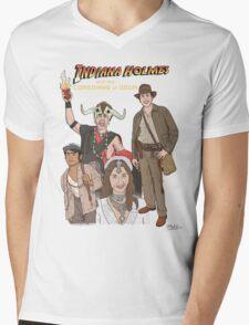 Indiana Holmes and the Comedians of Doom Mens V-Neck T-Shirt