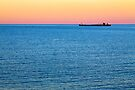 Great Lakes Freighter at Dusk by Kenneth Keifer