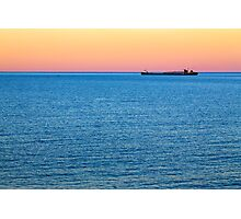 Great Lakes Freighter at Dusk Photographic Print
