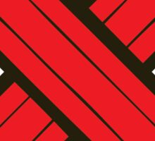 Pencil Power Red Pattern Sticker