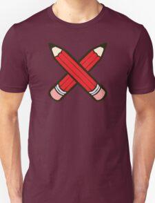 Pencil Power Red Pattern Unisex T-Shirt