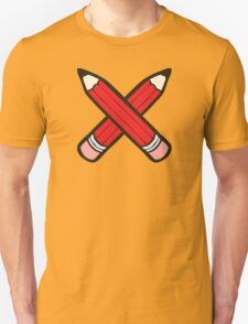 Pencil Power Red Pattern Unisex T-Shirt
