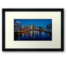 Melbourne On The Yarra Framed Print