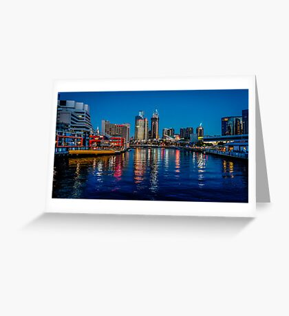 Melbourne On The Yarra Greeting Card