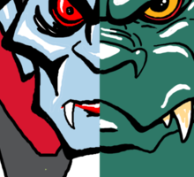 Dracula vs Zilla Sticker