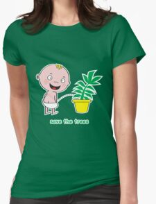 Save the Trees Womens Fitted T-Shirt