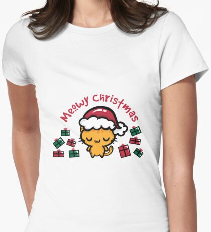 Santa Claws Womens Fitted T-Shirt