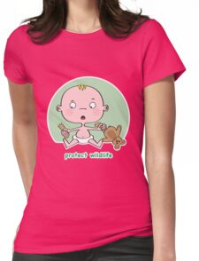 Protect Wildlife Womens Fitted T-Shirt