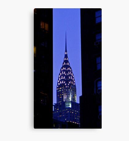 Blue Chrysler Canvas Print