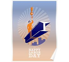 To our fellow workers Happy Labor Day Poster Poster